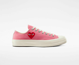 NIB*Converse X Play Comme des Garcons Heart*Mens*Strawberry Pink low Top... - $225.00