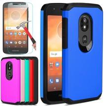 For Motorola Moto E5 Play/Cruise Case Shockproof Hybrid Cover + Screen P... - $321,42 MXN