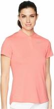 Nike Women Dri-Fit Short Sleeve Blade Golf Polo Pink Size Large AH4498-693 - $34.65