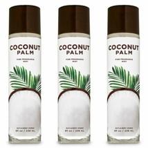 3 Pc Bath & Body Works Coconut Palm 8 oz Fine Fragrance Mist Gift Set New - $28.04