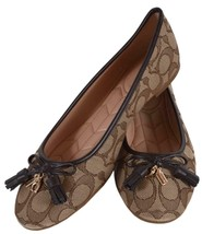 NEW Coach Women's FG2708 Signature BENNI Jacquard Ballet Flats Shoes 7 - $96.23