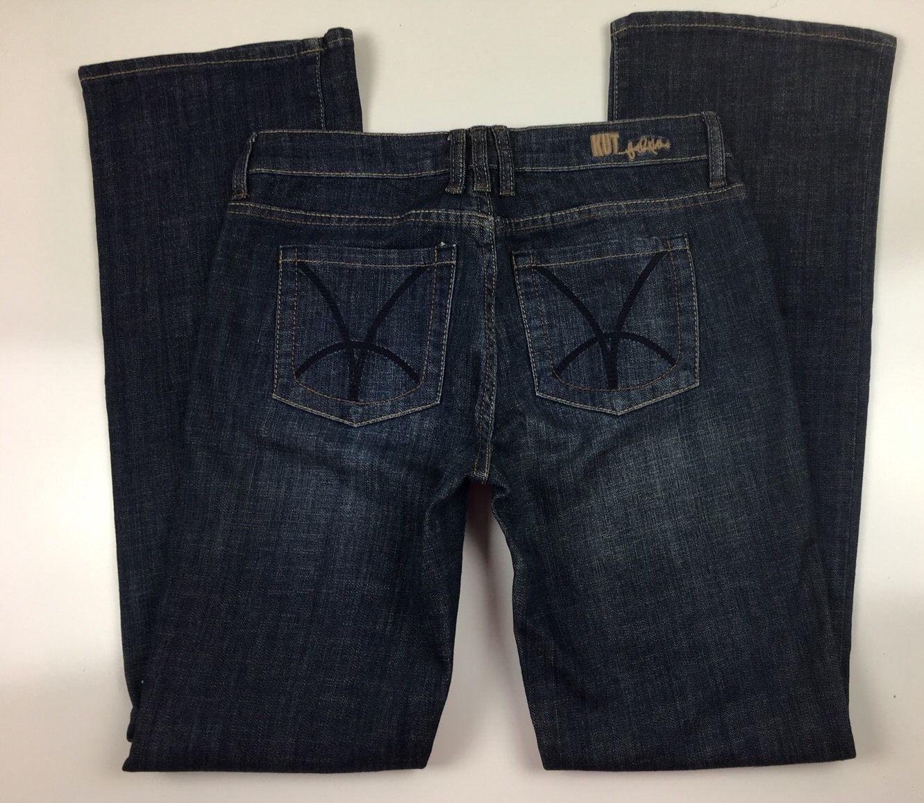 Women's Kut  from the Kloth Boot Cut Medium Stretch  Dark Wash Size 4