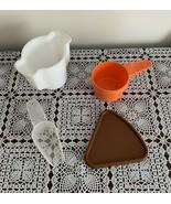 Tupperware Orange 3/4 Cup Measuring Cup Sugar Bowl Small Scoop Pie Keepe... - £6.11 GBP