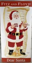 Fitz And Floyd Dear Santa Elongated Ceramic Serving Tray Christmas Holiday  NIB - $19.59
