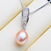 Natural Freshwater Pendant Necklace Necklace With Pearl Jewelry For Gift - $22.00