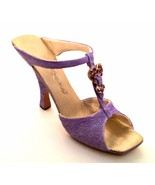 Raine Just The Right Shoe Mothers Love 25374 Purple Miniature Retired 2000 - $34.64