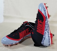 timeless design 656fb cf53f Nike Zoom Trout 4 Metal Baseball Cleats Mens Size 11 Black Red Gray 9178..  Add to cart · View similar items