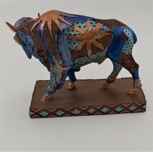 Hand Painted Buffalo Figurine image 5