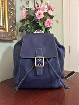 New Coach Legacy Blue Leather Daypack/Backpack Purse Bag #9569 B2L - $174.14