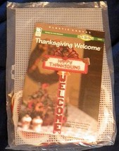 Happy Thanksgiving Welcome Plastic Canvas Kit Turkey Sign House of White... - $29.99
