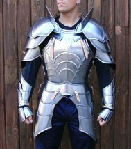 18GA SCA Steel Medieval Half Body Plated Armor Suit Cuirass & Puldrons G... - $516.70