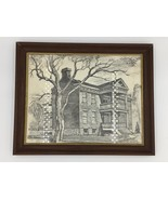 Roscoe Misselhorn 1973 Christopher Hawken House MO Framed Sketch Drawing... - $19.95
