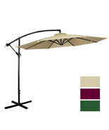 Outdoor 10 Ft Beach Umbrella, UV Resistant, Hanging Offset Patio Umbrella - $79.99+