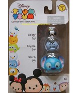 Disney Tsum Tsum 3 Pack Series 1 Goofy 107 Eeyore 156 Stitch 166 StackEm... - $8.00