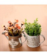 Flower Pot Vintage Bucket Planter Metal Iron Flowerpot Plant Home Garden... - $9.99