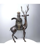 """21.5"""" Antique Chinese Bronze Censer Shoulau and Deer 19th Century Qing D... - $7,372.50"""