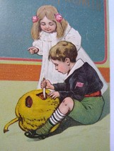 Vintage Halloween Postcard Paul Finkenrath Series 778 Boy & Girl Unused Original - $117.56