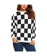 White and Black Checker Women's Baseball Jersey - $51.99