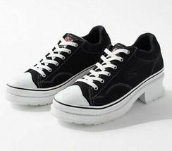 """NEW IN BOX SKECHERS IT""""S THE S 90's Heartbeats High Heel Sneaker in Blac... - £76.93 GBP"""