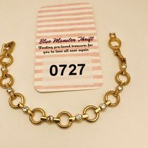 "Avon Sparkling Goldtone Circle Link 7"" -8"" Adjustable Tennis Bracelet J0727 image 8"