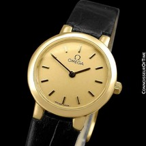 OMEGA De Ville Ladies 18K Gold Plated & SS Steel Watch - Mint with Warranty - $681.10