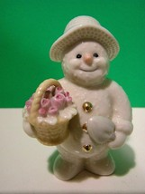 Lenox Collections May Flowers Snowman - $18.81