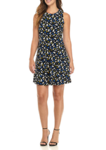 NWT ANNE KLEIN BLACK BLUE CAREER TRAPEZE FLARE DRESS SIZE 14 SIZE 16 $99 - $33.02+
