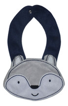 NEW Carter's Gray Wolf Baby Boys Terry Cloth Teething Drool Bib - $3.95