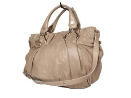 Authentic CELINE Beige Leather Hand Bag, Shoulder Bag 2way  - $169.00
