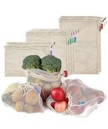 Cotton Mesh Bags Reusable Produce Bags Esonmus 8pcs/set Shopping Bag Dra... - $16.07