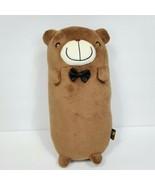 "Choco Teddy Plush Stuffed Animal Brown Bear Pillow Black Bow Tie X-Mind 11"" - $19.79"