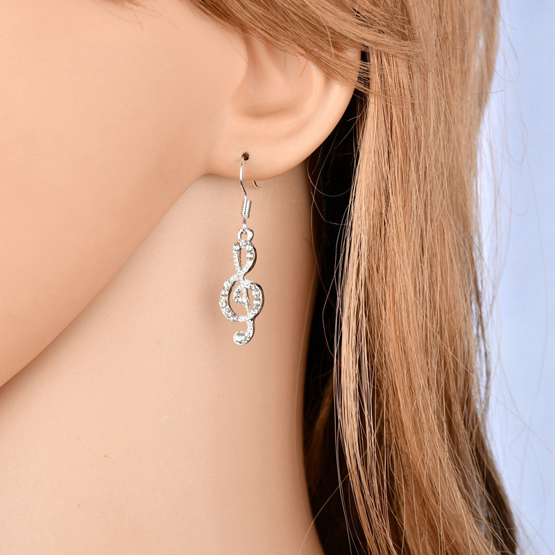 BAHYHAQ - Asymmetric Musical Notes Drop Earring Fashion Jewelry Accessories