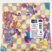 Vintage Gift Wrap Wrapping Paper Pooh Tigger Happy Birthday 1 Sheet Hallmark - $7.26