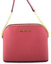 AUTHENTIC NEW NWT MICHAEL KORS $168 LEATHER CINDY PINK TULIP CROSSBODY BAG - $89.99