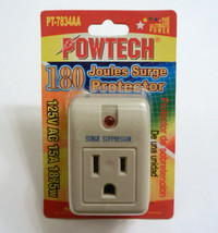 Surge Protector Suppressor Single Outlet 180 Joules 15A 1875 Watt - $7.87