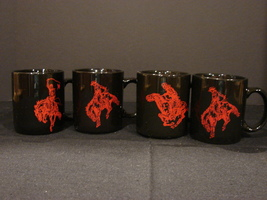 Set of 4 Marlboro Red Pony Express Mugs  - $12.99