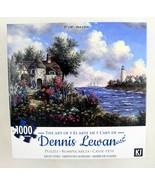 Dennis Lewan Art Puzzle Seacliff Cottage Lighthouse Karmin 1000pc 27x20 ... - $15.79