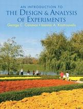 Introduction to the Design & Analysis of Experiments [Hardcover] Canavos... - $115.00