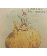 Union City Carriage Victorian Trade Card Indiana Mule Donkey Onion Elf - $70.65