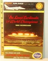 1968 St. Louis Cardinals Baseball Program Scorecard v Pirates  #AE - $28.71