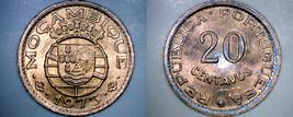1973 Mozambique 20 Centavo World Coin - Portuguese Colonial - $4.99