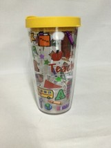 Tervis Insulated Tumbler #1 Teacher 16 oz Hot Cold Travel Cup w/ Lid Sch... - $9.69