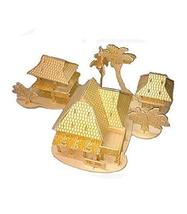 PANDA SUPERSTORE The Dai Bamboo Houses Three-Dimensional Building Manual Assembl