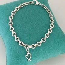 Tiffany & Co Silver Paloma Picasso Loving Heart Oval Link Charm Bracelet - $199.00