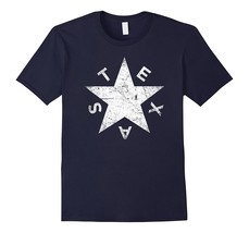 Distressed Lone Star of Texas Pride T-Shirt Men - $17.95+