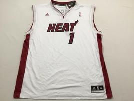 M31 Flawed ADIDAS Miami Heat Chris Bosh Home White Revolution Jersey MEN'S 2XL - $29.65
