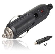Car Cigarette Lighter Socket Plug 12 Volt Connector with Fuse Red LED Light AF6