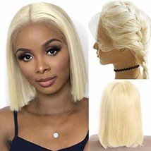 13x6 Lace Front Wigs Glueless Blonde Bob Upgrade Silky Straight 12 Inch ... - $93.48