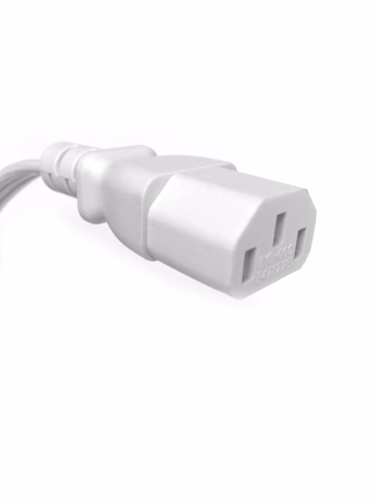 BYBON (100PACK) 3ft 18 AWG SJT Universal Computer Power Cord UL  Black or White