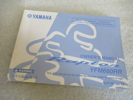Yamaha YFM660RR Owner's Manual P/N LIT-11626-16-09 - $13.06